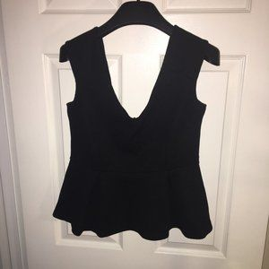 H&M Black Peplum Tank Top